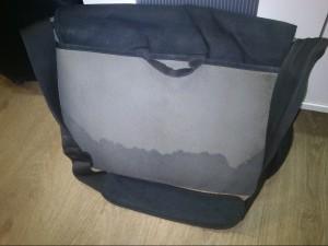 Моя обоссаная сумка сзади