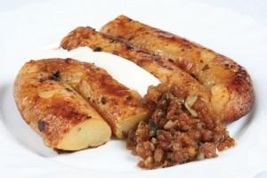 картофельная колбаса со шкварками