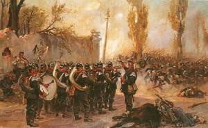военный оркестр исполняет польский гимн