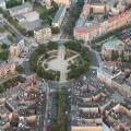 Щецин, вид сверху на центральную площадь
