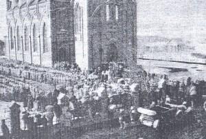 солдаты на присяге Регентскому совету
