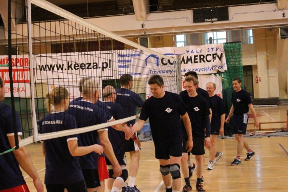 Волейбольный матч - Приветствие команд