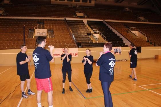 Волейбольный матч - Разминка